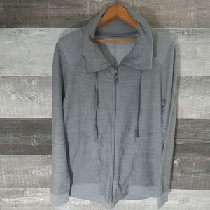 Maurices grey zip front athletic jacket size Large